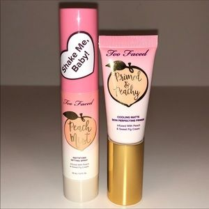 NWOT TooFaced peaches&Cream setting spray & primer